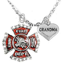 "<Br>WHOLESALE FIREFIGHTER MALTESE CROSS JEWELRY  <BR>                             AN ALLAN ROBIN DESIGN!! <Br>                    CADMIUM, LEAD & NICKEL FREE!!  <Br>     W1284-1832N1  ""FIREFIGHTER  GRANDMA"" HEART  <BR>      CHARMS ON ADJUSTABLE CHAIN NECKLACE<BR>                                    $9.38 �2016"
