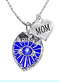 """<Br>                           WHOLESALE POLICE JEWELRY  <BR>                             AN ALLAN ROBIN DESIGN!! <Br>                    CADMIUM, LEAD & NICKEL FREE!!  <Br>           W1329-1837N1  I LOVE YOU """" MOM"""" HEART  <BR>         CHARMS ON ADJUSTABLE CHAIN NECKLACE<BR>                      FROM $7.50 TO $9.50 �2016"""