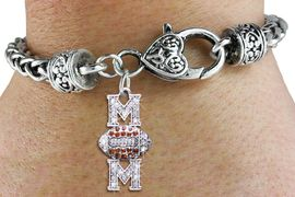"<bR> WHOLESALE FOOTBALL HEART BRACELET <BR>                EXCLUSIVELY OURS!! <BR>           AN ALLAN ROBIN DESIGN!! <BR>              LEAD & NICKEL FREE!! <BR> W1476SB - SILVER TONE FOOTBALL ""MOM"" <BR> TOPAZ AND CLEAR CRYSTAL CHARM ON <BR>      HEART LOBSTER CLASP BRACELET <Br>        FROM $5.63 TO $12.50 �2013"