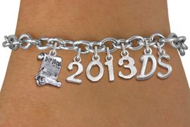 <br> WHOLESALE GRADUATION CHARM BRACELETS! <Br>                     EXCLUSIVELY OURS!!<Br>                AN ALLAN ROBIN DESIGN!!<Br>                  LEAD & NICKEL FREE!! <BR>           THIS IS A PERSONALIZED ITEM <Br>   W20404B - SILVER TONE TOGGLE CLASP <BR> GRADUATION THEMED CUSTOM YEAR & INITIALS <BR>   BRACELET FROM $10.69 TO $23.75 �2013