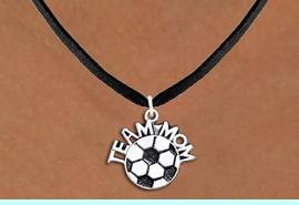 """<br>WHOLESALE JEWELRY - SOCCER NECKLACES!! <bR>                    EXCLUSIVELY OURS!! <BR>               AN ALLAN ROBIN DESIGN!! <BR>      CLICK HERE TO SEE 1000+ EXCITING <BR>            CHANGES THAT YOU CAN MAKE! <BR>         CADMIUM, LEAD & NICKEL FREE!! <BR>        W1490SN - DETAILED SILVER TONE <BR>   """"TEAM MOM"""" SOCCER CHARM & NECKLACE <BR>              FROM $4.50 TO $8.35 �2013"""