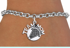 """<br>        WHOLESALE LACROSSE JEWELRY<bR>                    EXCLUSIVELY OURS!!<BR>               AN ALLAN ROBIN DESIGN!!<BR>      CLICK HERE TO SEE 1000+ EXCITING<BR>            CHANGES THAT YOU CAN MAKE!<BR>         CADMIUM, LEAD & NICKEL FREE!!<BR>       W1483SB - DETAILED SILVER TONE <Br> """"TEAM MOM"""" LACROSSE CHARM & BRACELET <BR>             FROM $4.15 TO $8.00 �2013"""