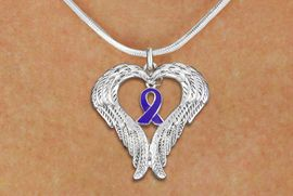 <BR>      WHOLESALE LUPUS JEWELRY<bR>               EXCLUSIVELY OURS!! <BR>             LEAD & NICKEL FREE!!<BR>W19693N - GUARDIAN ANGEL WINGS <Br>AND PURPLE AWARENESS RIBBON <BR>CHARM & SNAKE CHAIN NECKLACE <BR>     FROM $5.63 TO $12.50 �2012