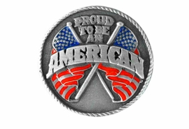 "<BR>      WHOLESALE PATRIOTIC JEWELRY<Br>                    LEAD & NICKEL FREE!!<Br>W15082P - ""PROUD TO BE AN AMERICAN""<br>  AMERICAN FLAG PIN AS LOW AS $2.21"