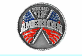 """<BR>      WHOLESALE PATRIOTIC JEWELRY<Br>                    LEAD & NICKEL FREE!!<Br>W15082P - """"PROUD TO BE AN AMERICAN""""<br>  AMERICAN FLAG PIN AS LOW AS $2.21"""