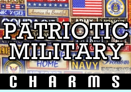 <BR>WHOLESALE PATRIOTIC / MILITARY CHARMS <BR> CADMIUM, LEAD, AND NICKEL FREE