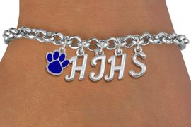<br> WHOLESALE PAW SCHOOL JEWELRY<Br>                    EXCLUSIVELY OURS!!<Br>              AN ALLAN ROBIN DESIGN!!<Br>                   LEAD & NICKEL FREE!! <BR>         THIS IS A PERSONALIZED ITEM <Br>  W20080B - SILVER TONE LOBSTER CLASP <BR>     CUSTOM CHARM BRACELET WITH YOUR <BR>  HIGH SCHOOL INITIALS, AND COLOR PAW <BR>          FROM $6.19 TO $13.75 �2013
