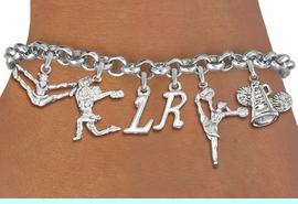 <br>WHOLESALE PERSONALIZED CHEER BRACELET<Br>                        EXCLUSIVELY OURS!!<Br>                    AN ALLAN ROBIN DESIGN!!<Br>                       LEAD & NICKEL FREE!! <BR>                 THIS IS A PERSONALIZED ITEM <Br>                 W19744B2 - SILVER TONE CHEER <BR>                    THEMED SIX CHARM BRACELET <BR>                   WITH PERSONALIZED INITIALS <BR>                               $12.38 EACH  �2012