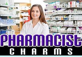 <BR> WHOLESALE PHARMACIST CHARMS <BR> CADMIUM, LEAD AND NICKEL FREE <BR>             SOLD INDIVIDUALLY