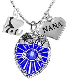 """<Br>                           WHOLESALE POLICE JEWELRY  <BR>                             AN ALLAN ROBIN DESIGN!! <Br>                    CADMIUM, LEAD & NICKEL FREE!!  <Br>           W1329-380-1828N1  I LOVE YOU """" DAUGHTER"""" HEART  <BR>         CHARMS ON ADJUSTABLE CHAIN NECKLACE<BR>                      FROM $7.50 TO $9.50 �2016"""
