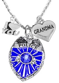 "<Br>                                 WHOLESALE POLICE JEWELRY  <BR>                                   AN ALLAN ROBIN DESIGN!! <Br>                          CADMIUM, LEAD & NICKEL FREE!!  <Br>      W1329-380-1832N1  I LOVE YOU "" GRANDMA"" HEART  <BR>                  CHARMS ON ADJUSTABLE CHAIN NECKLACE<BR>                               FROM $7.50 TO $9.50 �2016"