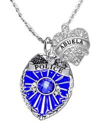 """<Br>                           WHOLESALE POLICE JEWELRY  <BR>                             AN ALLAN ROBIN DESIGN!! <Br>                    CADMIUM, LEAD & NICKEL FREE!!  <Br>           W1329-1759N1  I LOVE YOU """"ABUELA"""" HEART  <BR>         CHARMS ON ADJUSTABLE CHAIN NECKLACE<BR>                      FROM $9.73 TO $14.58 �2016"""