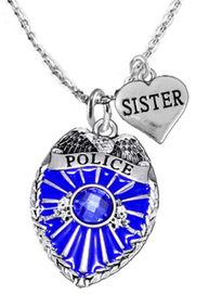 """<Br>                           WHOLESALE POLICE JEWELRY  <BR>                             AN ALLAN ROBIN DESIGN!! <Br>                    CADMIUM, LEAD & NICKEL FREE!!  <Br>           W1329-1833N1  I LOVE YOU """"SISTER"""" HEART  <BR>         CHARMS ON ADJUSTABLE CHAIN NECKLACE<BR>                      FROM $7.50 TO $9.50 �2016"""