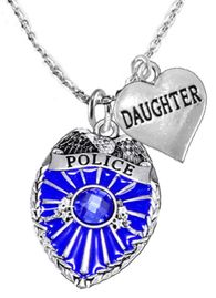"""<Br>                           WHOLESALE POLICE JEWELRY  <BR>                             AN ALLAN ROBIN DESIGN!! <Br>                    CADMIUM, LEAD & NICKEL FREE!!  <Br>           W1329-1831N1  I LOVE YOU """" DAUGHTER"""" HEART  <BR>         CHARMS ON ADJUSTABLE CHAIN NECKLACE<BR>                      FROM $7.50 TO $9.50 �2016"""