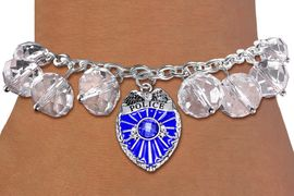 <BR>            WHOLESALE POLICE JEWELRY!! <bR>                    EXCLUSIVELY OURS!! <Br>               AN ALLAN ROBIN DESIGN!! <BR>         LEAD, NICKEL & CADMIUM FREE!! <BR>   W20342B - SILVER TONE POLICE SHIELD <BR>  CRYSTAL CHARM & CLEAR CRYSTAL TOGGLE <BR>   BRACELET FROM $9.56 TO $21.25 �2013