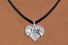 """<BR>            WHOLESALE POM JEWELRY<bR>                   EXCLUSIVELY OURS!! <Br>              AN ALLAN ROBIN DESIGN!! <BR>     CLICK HERE TO SEE 1000+ EXCITING <BR>           CHANGES THAT YOU CAN MAKE! <BR>        LEAD, NICKEL & CADMIUM FREE!! <BR>    W1411SN - SILVER TONE """"POM"""" CLEAR <BR>     CRYSTAL HEART CHARM AND NECKLACE <BR>            FROM $5.40 TO $9.85 �2013"""