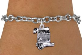 <br>         WHOLESALE SCHOOL BRACELET <bR>                   EXCLUSIVELY OURS!!<BR>              AN ALLAN ROBIN DESIGN!!<BR>     CLICK HERE TO SEE 1000+ EXCITING<BR>           CHANGES THAT YOU CAN MAKE!<BR>        CADMIUM, LEAD & NICKEL FREE!!<BR>      W1433SB - DETAILED SILVER TONE <Br>     DIPLOMA SCROLL CHARM & BRACELET <BR>            FROM $4.15 TO $8.00 �2013