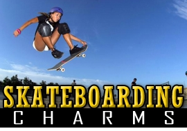 <BR>   WHOLESALE SKATEBOARDING CHARMS <BR> CADMIUM, LEAD AND NICKEL FREE <BR>             SOLD INDIVIDUALLY