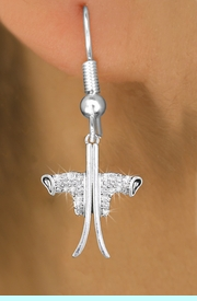 <BR>    WHOLESALE SKI CHARM JEWELRY <bR>              EXCLUSIVELY OURS!! <Br>         AN ALLAN ROBIN DESIGN!! <BR>   LEAD, NICKEL & CADMIUM FREE!! <BR> W1495SE - SILVER TONE BOOTS AND SKIS <BR>    CLEAR CRYSTAL CHARM EARRINGS <BR>       FROM $5.40 TO $10.45 �2013