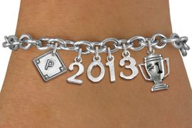 <br> WHOLESALE SOFTBALL AND BASEBALL JEWELRY! <Br>                      EXCLUSIVELY OURS!! <Br>                 AN ALLAN ROBIN DESIGN!! <Br>                    LEAD & NICKEL FREE!! <BR>             THIS IS A PERSONALIZED ITEM <Br>     W20466B - SILVER TONE TOGGLE CLASP <BR> PERSONALIZED PLATE, #1 TROPHY AND CUSTOM <BR>  YEAR BRACELET FROM $9.00 TO $20.00 �2013