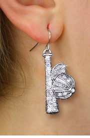 <BR> WHOLESALE SOFTBALL BASEBALL EARRINGS! <bR>              EXCLUSIVELY OURS!! <Br>         AN ALLAN ROBIN DESIGN!! <BR>   LEAD, NICKEL & CADMIUM FREE!! <BR> W1470SE - SILVER TONE AND CLEAR <BR> CRYSTAL BAT AND CAP CHARM EARRINGS <BR>      FROM $5.40 TO $10.45 �2013