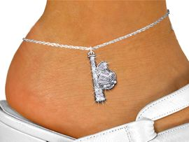 <bR> WHOLESALE SOFTBALL / BASEBALL JEWELRY! <BR>                  EXCLUSIVELY OURS!! <BR>             AN ALLAN ROBIN DESIGN!! <BR>       LEAD, NICKEL & CADMIUM FREE!! <BR>    W1470SAK - SILVER TONE AND CLEAR <BR> CRYSTAL BAT AND CAP CHARM AND ANKLET <Br>           FROM $5.40 TO $9.85 �2013