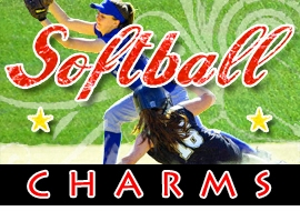 <BR>   WHOLESALE SOFTBALL CHARMS <BR> CADMIUM, LEAD AND NICKEL FREE <BR>             SOLD INDIVIDUALLY