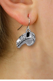 "<br>      WHOLESALE SPORTS EARRINGS <bR>                EXCLUSIVELY OURS!! <BR>           AN ALLAN ROBIN DESIGN!! <BR>     CADMIUM, LEAD & NICKEL FREE!! <BR>    W1432SE - DETAILED SILVER TONE <Br> ""#1 COACH"" WHISTLE CHARM EARRINGS <BR>         FROM $4.50 TO $8.35 �2013"