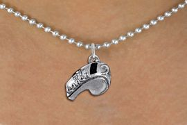 """<br>         WHOLESALE SPORTS NECKLACE <bR>                  EXCLUSIVELY OURS!! <BR>             AN ALLAN ROBIN DESIGN!! <BR>    CLICK HERE TO SEE 1000+ EXCITING <BR>          CHANGES THAT YOU CAN MAKE! <BR>       CADMIUM, LEAD & NICKEL FREE!! <BR>        W1432SN - LARGE, SILVER TONE <BR> """"#1 COACH"""" WHISTLE CHARM & NECKLACE <BR>            FROM $4.50 TO $8.35 �2013"""
