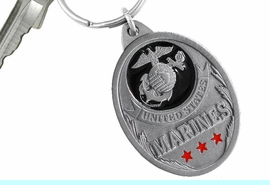 "<Br>      WHOLESALE USMC KEY CHAINS <BR>               LEAD & NICKEL FREE!! <Br>  W20506KC - ""UNITED STATES MARINES"" <Br>   PEWTER AND BLACK ENAMEL KEY CHAIN <Br>         FROM $4.73 TO $10.50 �2013"