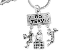 "<BR>      WHOLESALE VOLLEYBALL JEWELRY<Br>                    EXCLUSIVELY OURS!! <Br>               AN ALLAN ROBIN DESIGN!! <Br>                  LEAD & NICKEL FREE!! <BR>     W20214KC - SILVER TONE ""GO TEAM!"" <BR>       VOLLEYBALL THEMED KEY RING WITH <BR>  BUMP, BLOCK AT NET, AND SERVE CHARMS <BR>            FROM $6.41 TO $14.25 �2013"