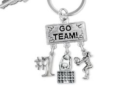 "<BR>      WHOLESALE VOLLEYBALL KEY RING<Br>                   EXCLUSIVELY OURS!! <Br>              AN ALLAN ROBIN DESIGN!! <Br>                 LEAD & NICKEL FREE!! <BR>    W20199KC - SILVER TONE ""GO TEAM!"" <BR>      VOLLEYBALL THEMED KEY RING WITH <BR> ""#1"", BLOCKED NET, AND BUMP CHARMS <BR>           FROM $6.41 TO $14.25 �2013"
