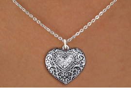 <BR>      WHOLESALE WESTERN HEART JEWELRY <bR>                   EXCLUSIVELY OURS!! <Br>              AN ALLAN ROBIN DESIGN!! <BR>     CLICK HERE TO SEE 1000+ EXCITING <BR>           CHANGES THAT YOU CAN MAKE! <BR>        LEAD, NICKEL & CADMIUM FREE!! <BR>  W1435SN - SILVER TONE CLEAR CRYSTAL <BR>   WESTERN HEART CHARM AND NECKLACE <BR>            FROM $5.40 TO $9.85 �2013