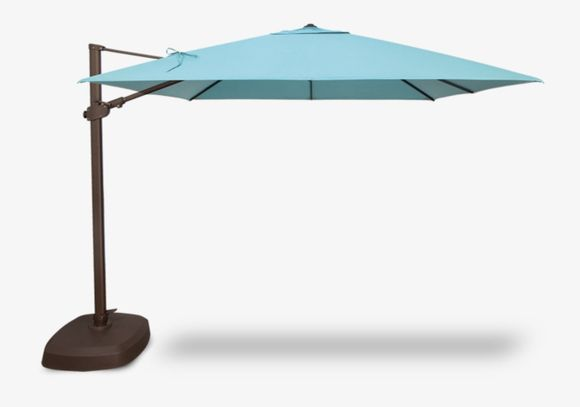 10 Foot Square AG25TSQ Cantilever Umbrella with Base Included