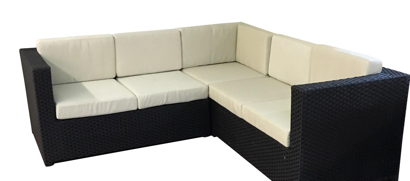 3 Piece Outdoor Wicker Sectional With