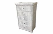 5 Drawer Wicker Dresser - Elana