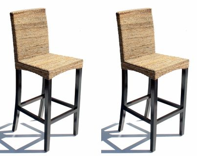 Abaca Barstool Set of 2 - Maui