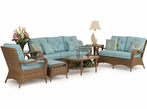 Alexandria Outdoor Wicker Collection - Oyster Finish
