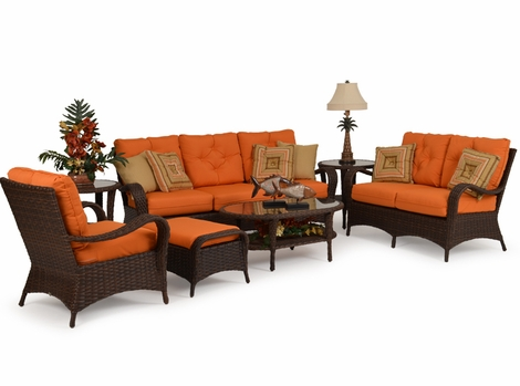 Alexandria Outdoor Wicker Collection - Tortoise Finish