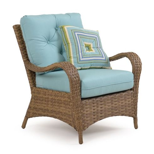 Alexandria Outdoor Wicker Lounge Chair - Oyster Finish