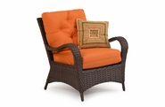 Alexandria Outdoor Wicker Lounge Chair - Tortoise Finish