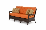 Alexandria Outdoor Wicker Sofa - Tortoise Finish