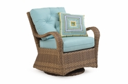 Alexandria Outdoor Wicker Swivel Glider - Oyster Finish