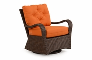 Alexandria Outdoor Wicker Swivel Glider - Tortoise Finish