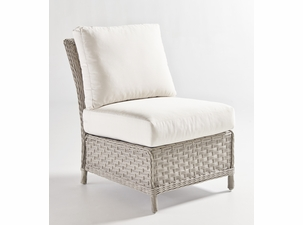 Antiqua Outdoor Wicker Armless Chair