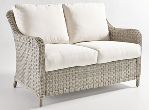 Antiqua Outdoor Wicker Loveseat
