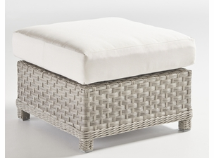 Antiqua Outdoor Wicker Ottoman