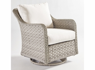 Antiqua Outdoor Wicker Swivel Glider Chair