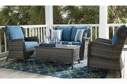 Ashlyn Outdoor Wicker Set of 4