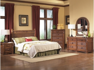 Barbados Rattan Bedroom Set of 4